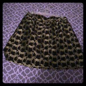 Crown and ivy zebra mini skirt